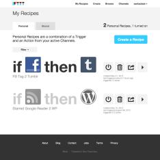 IFTTT - Mina recept