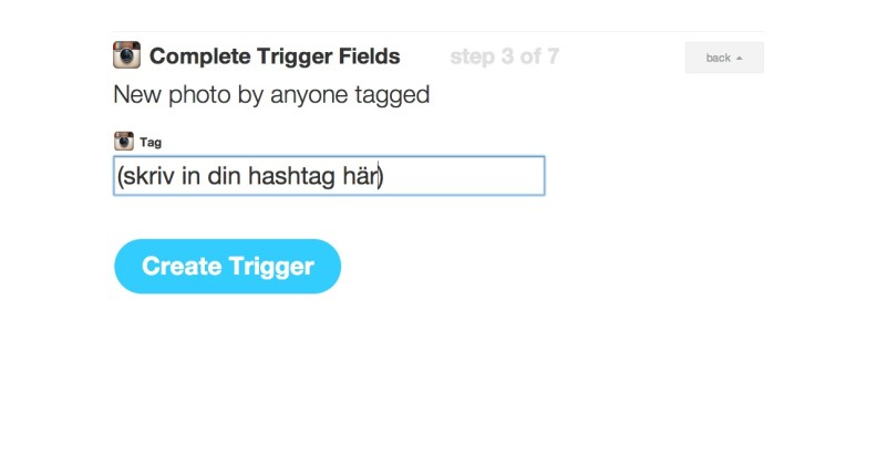 Välj hashtag